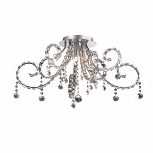 Picture of IDEAL LUX FIORE CEILING LAMP PL6 WITH CRYSTALS