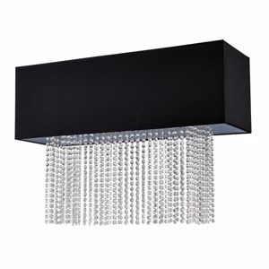 Picture of IDEAL LUX PHOENIX PL5 BLACK CEILING ELEGANT CONTEMPORARY FABRIC AND CRYSTALS