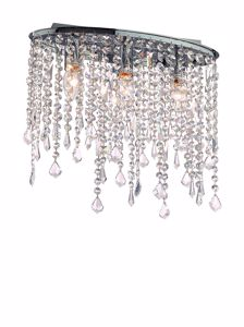 Picture of IDEAL LUX RAIN CEILING LAMP WITH CRYSTALS PL3 3 LIGHTS