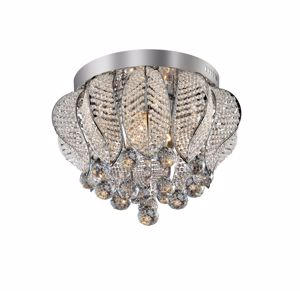 Picture of IDEAL LUX MOZART CEILING LAMP CRYSTAL PL6 6 LIGHTS