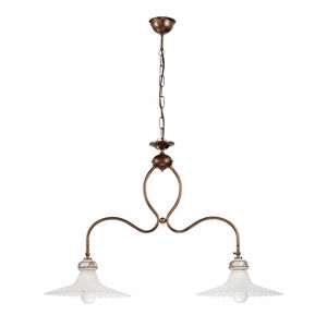 Picture of LAMPADARIO BILANCERE PER CUCINA IN CERAMICA E METALLO BRUNITO LINEA LIGHT MAMI