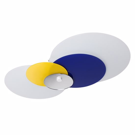 Picture of LINEA LIGHT HULA HOOP CEILING LAMP BLUE-YELLOW