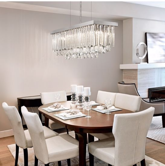 Picture of EGLO CALAONDA ELEGAND CHANDELIER FOR DINING TABLE 96CM