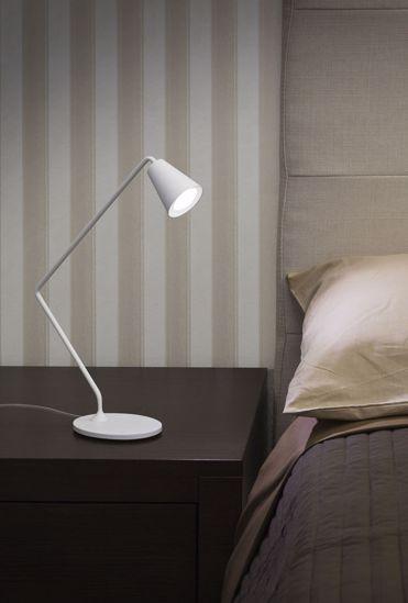 Picture of LINEA LIGHT CONUS LED MINI BEDSIDE LAMP WHITE