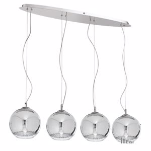 Picture of IDEAL LUX DISCOVERY CHROMED SUSPENSION SB4 BIG 4 SPHERES