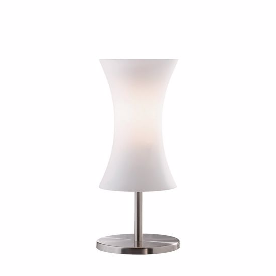 Picture of IDEAL LUX ELICA TL1 BEDSIDE LAMP IN GLASS AND NICKEL