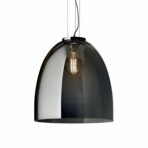 Picture of IDEALLUX EVA SP1 BIG SMOKY GREY MODERN SUSPENSION IN TRANSPARENT GLASS