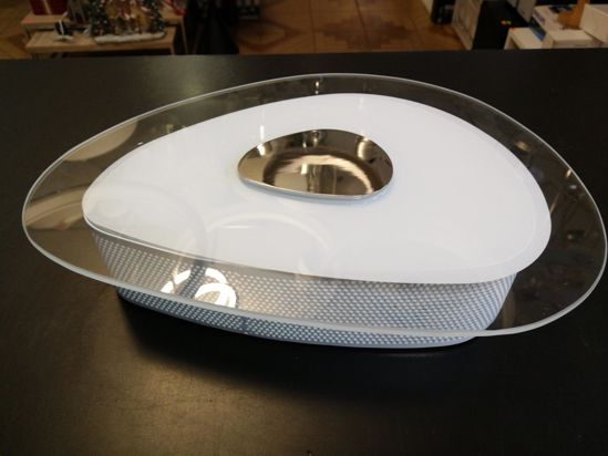 Picture of IDEAL LUX GEKO MODERN CEILING LAMP IN GLASS Ø30