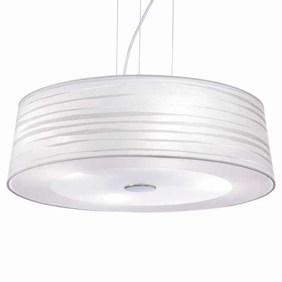 Picture of MODERN PENDANT LIGHT Ø60 WHITE PVC AND FABRIC