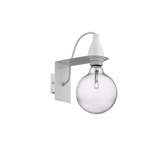 Picture of IDEAL LUX MINIMAL COLORED WALL LAMP AP1 WHITE