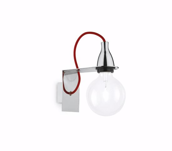 Picture of IDEAL LUX MINIMAL COLORED WALL LAMP AP1 CHROME