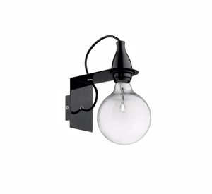 Picture of IDEAL LUX MINIMAL COLORED WALL LAMP AP1 BLACK