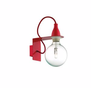 Picture of IDEAL LUX MINIMAL COLORED WALL LAMP AP1 RED