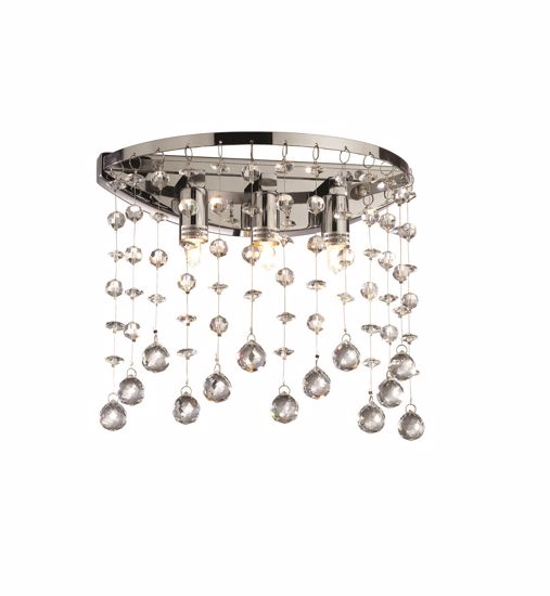 Picture of IDEAL LUX MOONLIGHT CRYSTALS WALL LAMP AP3 CHROME