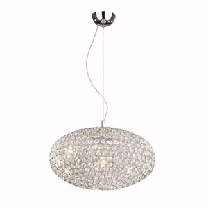 Picture of IDEAL LUX ORION PENDANT LAMP CRYSTALS 60CM 12 LIGHTS