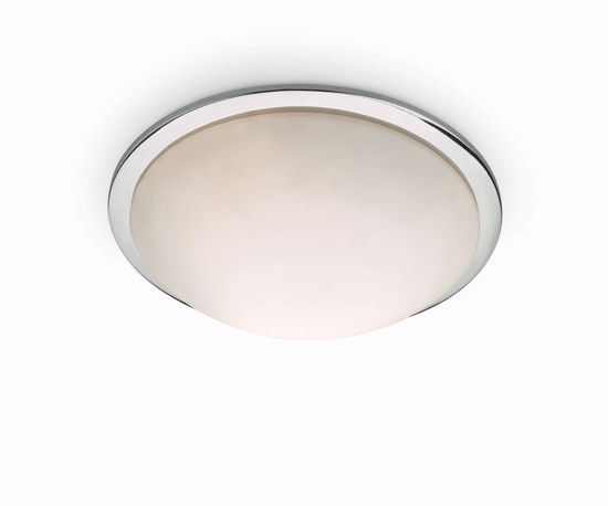 Picture of IDEAL LUX RING PL2 ROUND CEILING LAMP IN GLASS