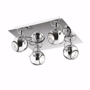 Picture of IDEAL LUX LUNARE CEILING SPOTLIGHTS PL4 CHROME