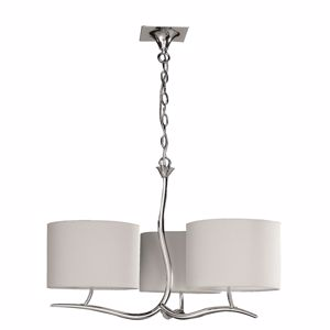 Picture of MANTRA EVE CHROME - OFF WHITE SUSPENSION CONTEMPORARY 3 OFF-WHITE SHADES