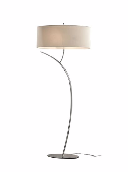 Picture of FLOOR LAMP GLOSSY CHROME WITH FABRIC SHADE