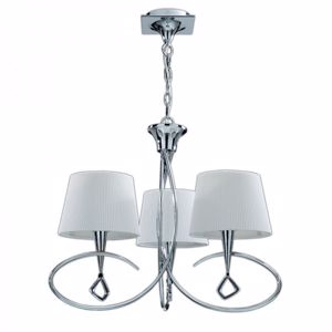 Picture of MANTRA MARA CHROME - OFF WHITE PENDANT 3-LIGHT LAMP CONTEMPORARY DESIGN