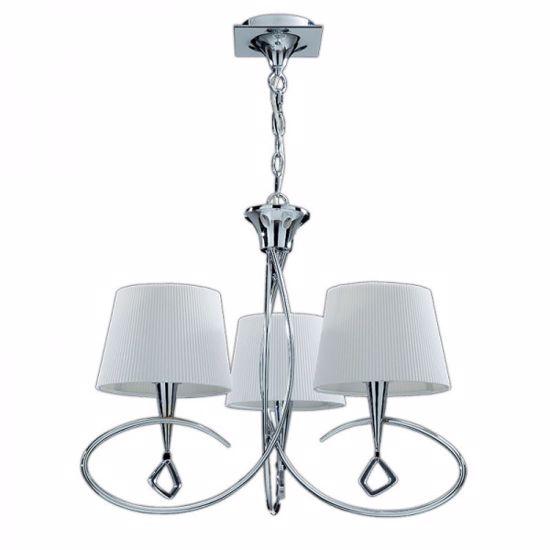 Picture of MANTRA MARA CHROME - OFF WHITE PENDANT 3-LIGHT LAMP CONTEMPORARY DESIGN