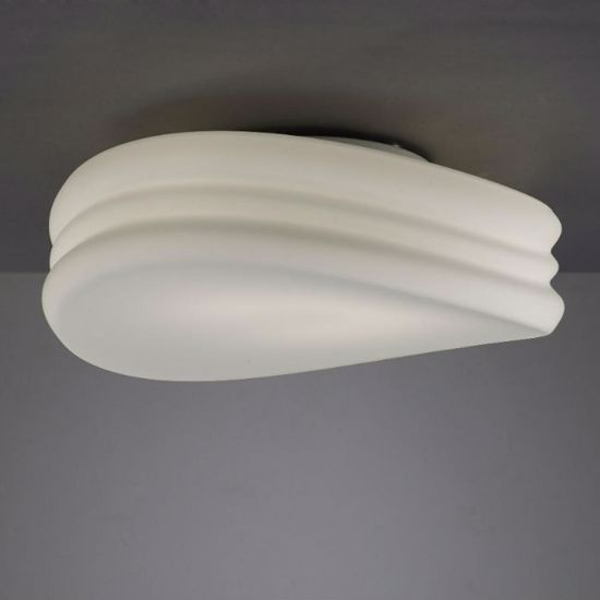 Picture of MODERN CEILING LAMP IN WHITE GLASS Ø37 CONTOURED DESIGN