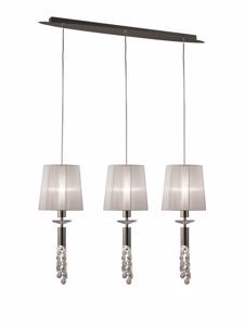 Picture of MANTRA TIFFANY CHROME CONTEMPORARY 3-LIGHT PENDANT