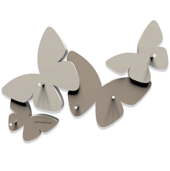Picture of CALLEA DESIGN MAGNETIC KEY HOLDER BUTTERFLIES DOVE GREY