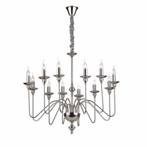 Picture of IDEAL LUX ARTU SP12 CHROME PENDANT LAMP AND CRYSTAL
