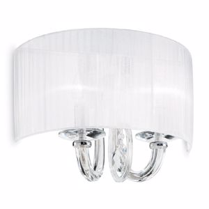 Picture of IDEAL LUX SWAN WALL LAMP WITH SHADE AP2 2 LIGHTS