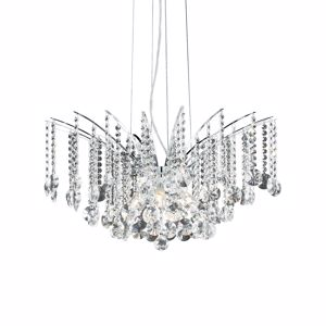 Picture of IDEAL LUX AUDI 77 PENDANT LAMP CRYSTALS SP8 8 LIGHTS