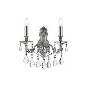 Picture of IDEAL LUX GIOCONDA WALL LAMP WITH PENDANTS AP2 SILVER