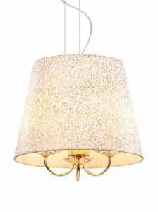 Picture of IDEAL LUX QUEEN PENDANT LAMP WITH SHADE SP3 3 lIGHTS