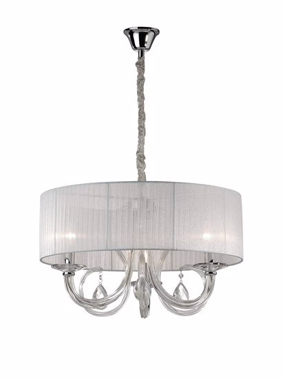 Picture of IDEAL LUX SWAN PENDANT LAMP WITH SHADE SP3 3 LIGHTS