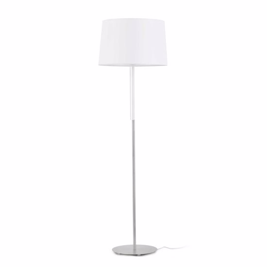 Picture of FARO VOLTA FLOOR LAMP WITH SHADE IN WHITE FABRIC