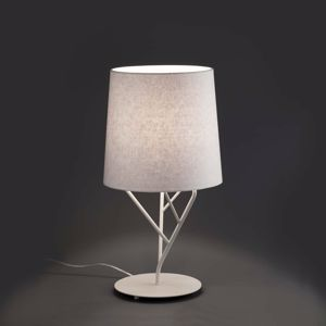 Picture of FARO TREE WHITE TABLE LAMP WITH WHITE SHADE