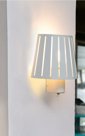 Picture of FARO MIX WALL LAMP WHITE WITH SWITCH