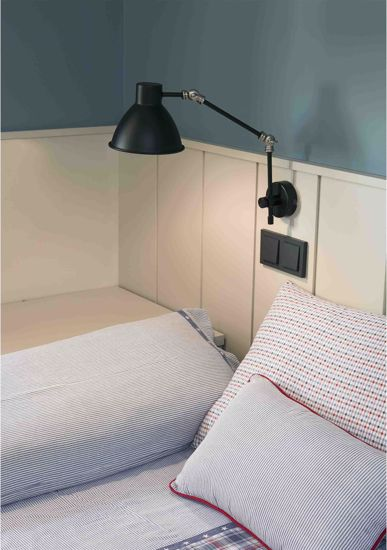 Picture of FARO EXTENDABLE BLACK WALL LAMP CELIA IN METAL