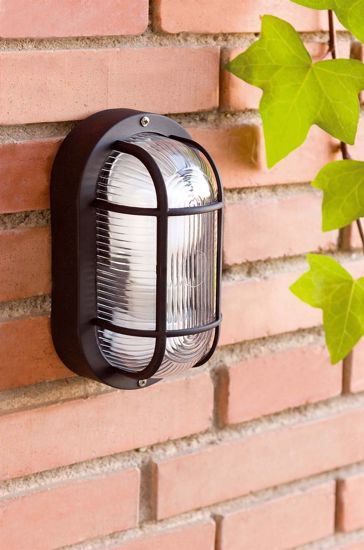 Picture of FARO OVALO BLACK OUTDOOR WALL LAMP