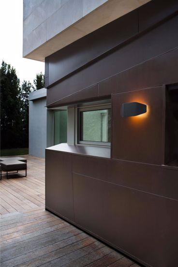 Picture of FARO FUTURE OUTDOOR WALL LAMP BLACK MODERN DESIGN