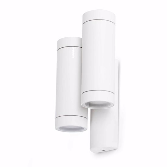 Picture of FARO STEPS OUTDOOR WALL LAMP WHITE 2 LIGHTS