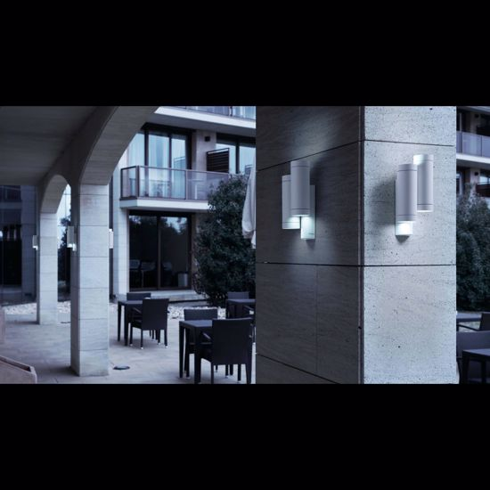 Picture of FARO STEPS OUTDOOR WALL LAMP GREY 2 LIGHTS