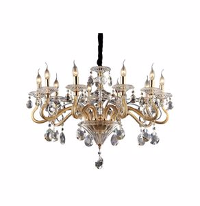 Picture of PENDANT LAMP IN GLASS AND CRYSTAL