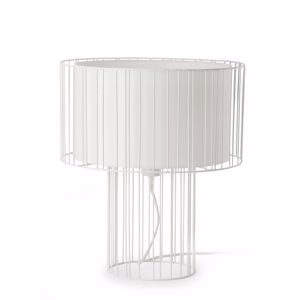 Picture of FARO LINDA TABLE LAMP WHITE WITH SHADE ESSENTIAL DESIGN