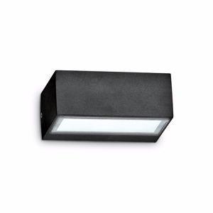 Picture of BLACK LITTLE RECTANGULAR WALL LIGHT OUTDOOR IP44 IDEAL LUX TWIN AP1