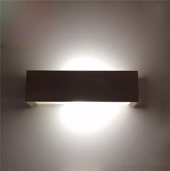 Picture of LINEA LIGHT MADERA WALL LAMP CUBE IN WOOD OAK GREY 35CM