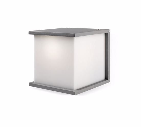 Picture of OUTDOOR WALL LIGHT IN GREY LACQUERED METAL