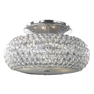 Picture of ILLUMINATI CEILING LAMP WITH CRYSTALS 35CM 3 LIGHTS