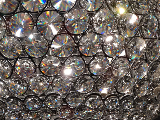 Picture of ILLUMINATI CEILING LAMP WITH CRYSTALS 50CM 6 LIGHTS