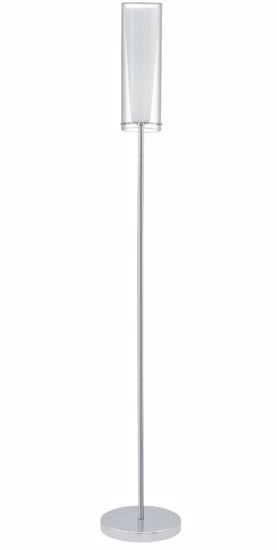 Picture of EGLO PINTO MODERN FLOOR LAMP CHROME METAL AND GLASS